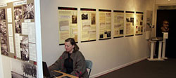 Living Archive's display about Albert French